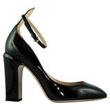 Valentino Leather High Heels Shoes - Black