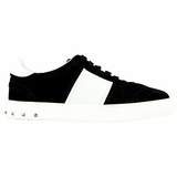 Valentino Striped Women's Sneakers - Black