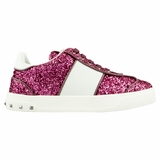 Valentino Leather Sneaker - Pink/White