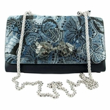Valentino Butterfly Print Clutch - Blue