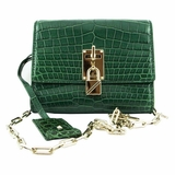 Valentino Crocodile Leather Crossbody Bag - Green