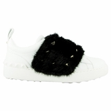 Valentino Mink Fur Sneakers NW0S0E11 White/Black