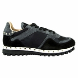 Valentino Rockstud Camouflage Women's Sneakers NW1S0291 Black