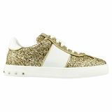 Valentino Flycrew Glitter Women's Sneakers NW2S0E19 Gold