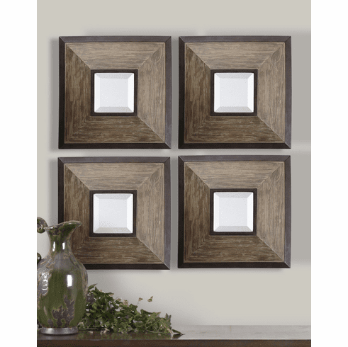 Abbott Square Mirrors, set of 4