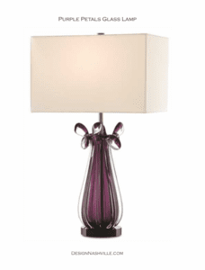 additional photo Purple Petals Glass Lamp
