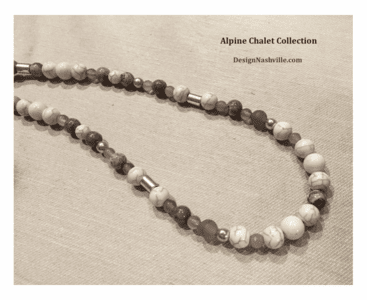 additional pic Alpine Chalet Necklace, grey