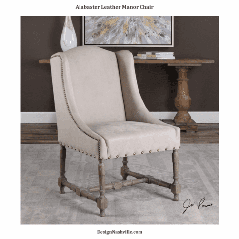 Alabaster Leather Manor Chair