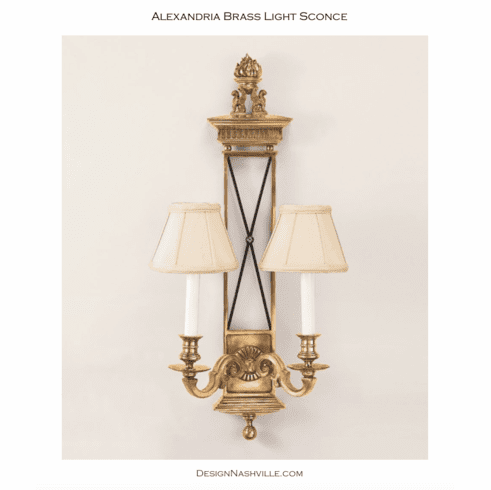 Alexandria Brass Light Sconce