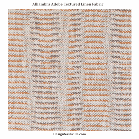 Alhambra Adobe Textured Linen Fabric