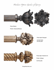 Alternative Finials and Finishes for Pole Hardware