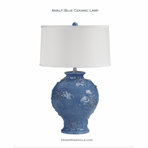 Amalfi Blue Ceramic Lamp
