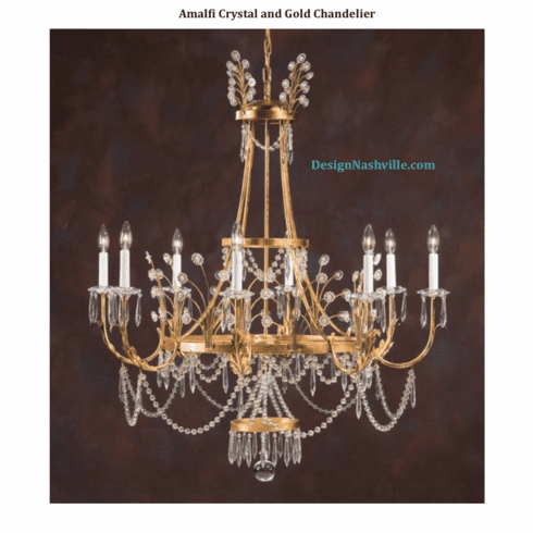 Amalfi Crystal and Gold Chandelier