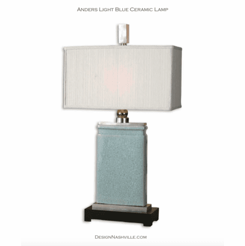 Anders Light Blue Ceramic Lamp
