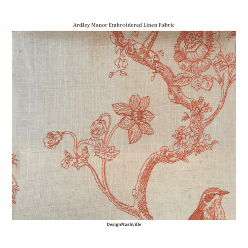 Ardley Manor Embroidered Fabric, spice