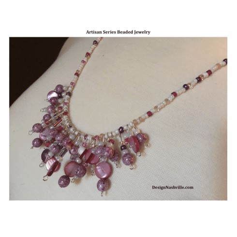Artisan Series Necklace, Orchid