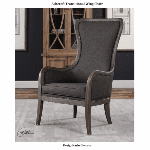 Ashcroft Transitional Wing Chair
