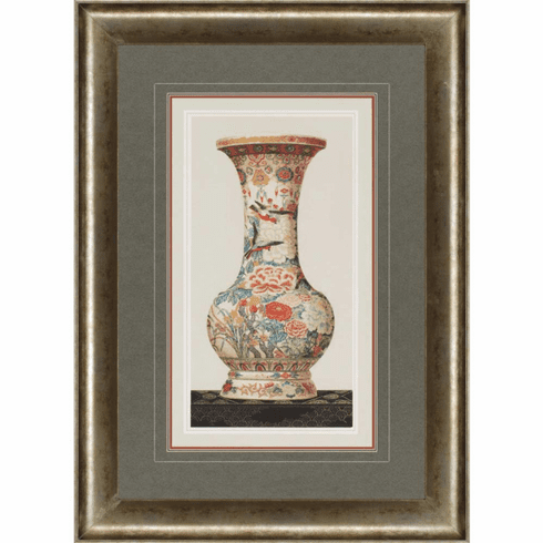 Asian Garden Vase Framed Art I