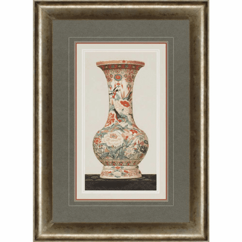 Asian Garden Vase Framed Art II