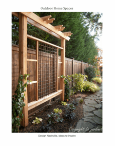 Asian Inspired Trellis and Craftsman Fence