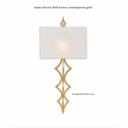 Aspire Electric Wall Sconce, contemporary gold