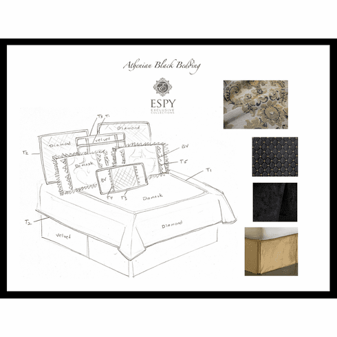 Athenian Black Bedding Ensemble