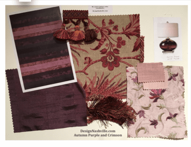 Autumn Purple and Crimson Fabrics
