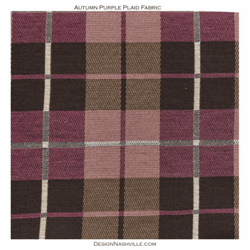 Autumn Purple Plaid Fabric