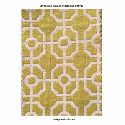 Avondale Lattice Matelasse Fabric, lemon-liime