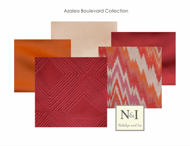 Azalea Boulevard Bedding and Drapery Collection