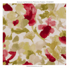 Azalea Impression Print Fabric cherry