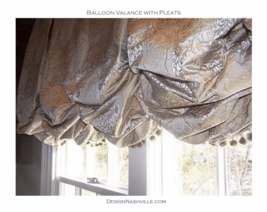 Balloon Valance with Box Pleats