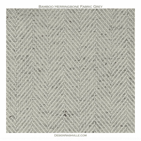 Bamboo Herringbone Fabric grey