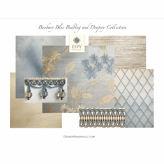 Banbury Blue Bedding and Drapery Collection