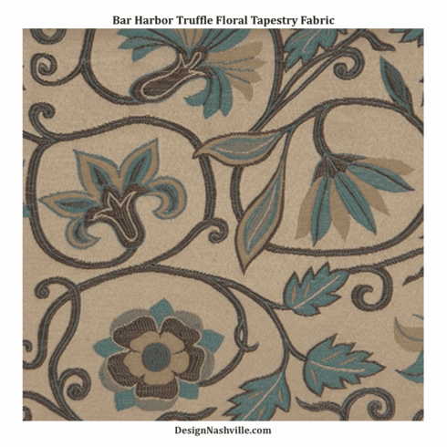 Bar Harbor Truffle Floral Tapestry Fabric