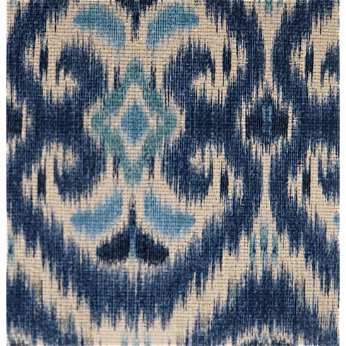 Barbados Ikat Fabric, blue