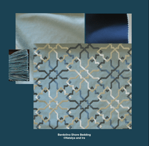 Bardolino Shore Bedding and Drapery Collection