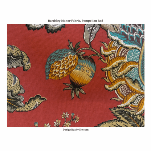 Bardsley Manor Print Fabric, <br>Pompeiian Red