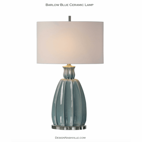 Barlow Blue Ceramic Lamp
