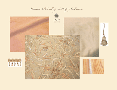 Bavarian Silk Bedding and Drapery Collection