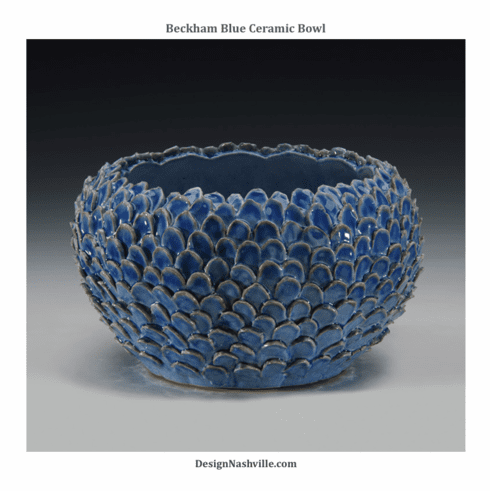 Beckham Blue Ceramic Bowl