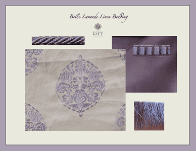 Belle Lavande Linen Bedding and Drapery Collection