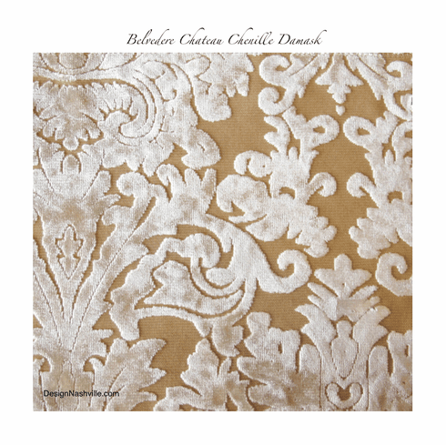 Belvedere Chateau Chenille Damask fabric