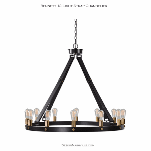 Bennett 12 Light Strap Chandelier