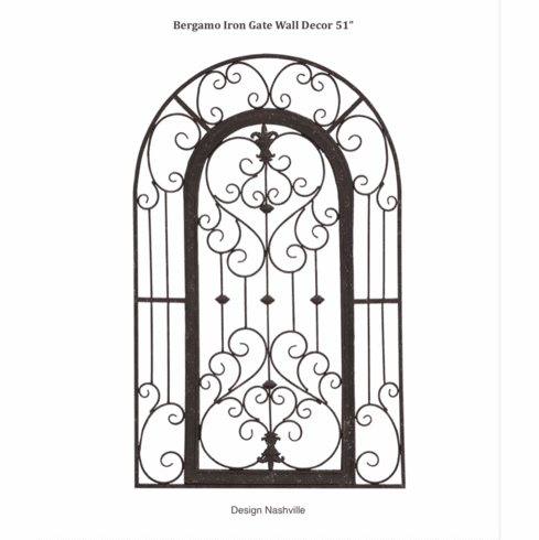 Bergamo Iron Gate Wall Decor 51""