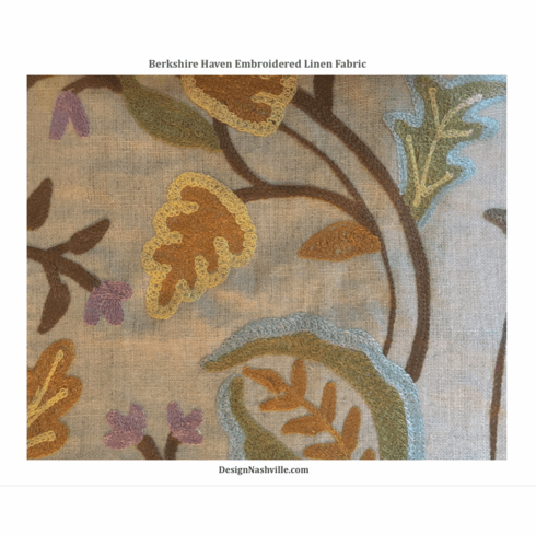 Berkshire Haven Embroidered Linen Fabric