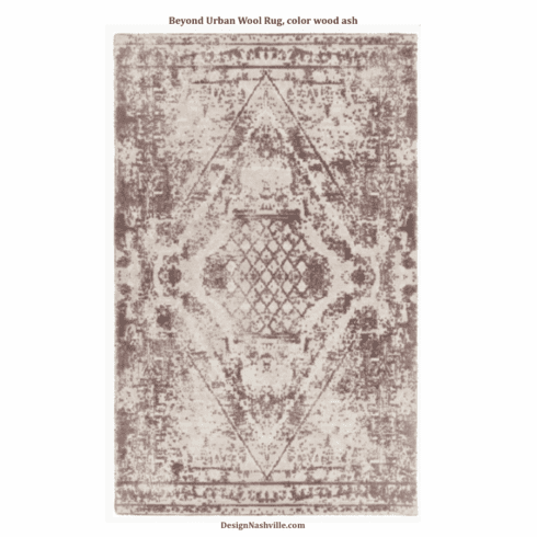 Beyond Urban Wool Rug, color wood ash