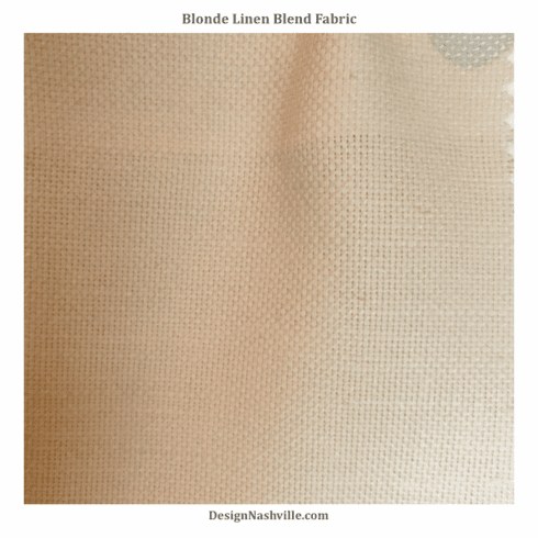 Blonde Linen Blend Fabric