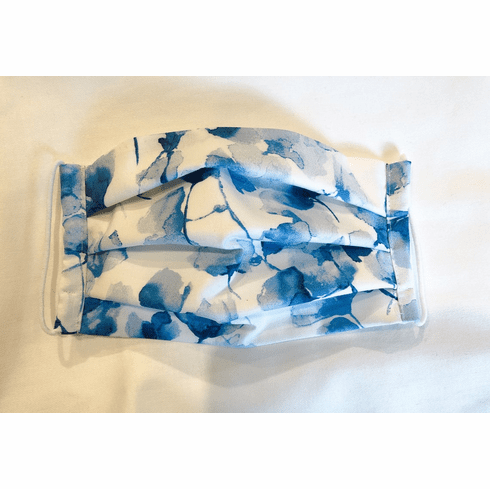 Blossoms in Blue Washable Face Mask