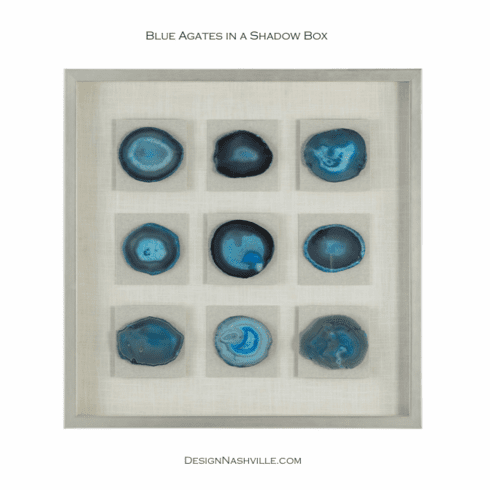 Blue Agates in  Shadow Box